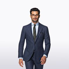 Cut from a blend of wool and cashmere, this slim-fitted Hudson suit makes a well-rounded option for just about any seasonal occasion.