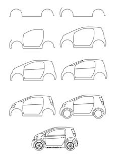 how to draw a car   learn how to draw a small car with simple step by step instructions