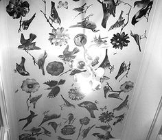 diy project: decoupaged ceiling