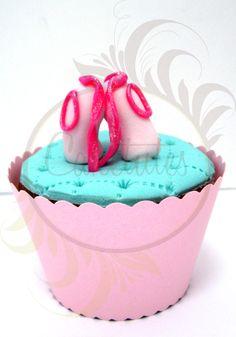Ballerina Cupcake - Caketutes Cake Designer