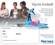 norwex invitation template to download Google Search Purefectly