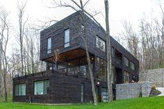 Lumière et matériaux naturels privilégiés pour cette maison bois contemporaine, , #Lucas Construction #modern #USA #wooden house