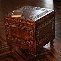 Artisan Wilfredo Rios celebrates centuries of Andean tradition with this superbly crafted accent table.