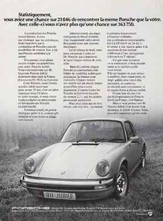 "paperink id: ads6512 Porsche 911 Jubile 1974 French AD ORIGINAL PERIOD Magazine Advertisement AD measuring approximately 8"" x 11"". AD is in Very Good Condition as shown and ready to frame. Outstanding"