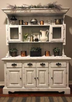Shabby Corner Cabinet Vintage Chippy Hutchkitchen Storage Etsy Shop ThriftyVINTAGEstudi
