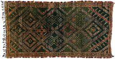 Gorgeous #Green Moroccan! #envy #berbertribes #Morocco #MoroccanRug #Vintage #carpetcrush #ruglove #interiordesign #dallasdesign Vintage Moroccan Oriental Rug 6 x 12