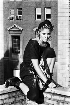 "Madonna photographed by Kate Simon, 1983.  Talking to Interview magazine, art dealer Larry Gagosian recalls the time that his artist-client Jean-Michel Basquiat came to live with him in LA and brought his girlfriend along.""He said, 'Her name is Madonna and she's going to be huge… So Madonna came out and stayed for a few months and we all got along like one big, happy family… I lost my license at one point and Madonna actually became our driver for a while.""""Madonna drove us around! B..."