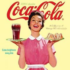 coca cola, old, pin up, retro, vintage Propaganda Coca Cola, Coca Cola Poster, Coca Cola Ad, Always Coca Cola, World Of Coca Cola, Coca Cola Vintage, Vintage Diner, Vintage Ads, Vintage Signs