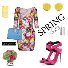 """""""yellow spring set"""" by lotesmm ❤ liked on Polyvore featuring Posh Girl, Ray-Ban, Christian Dior, Hermès and Diane James"""
