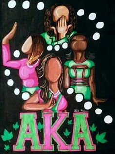 AKA art by Ashley Andrews Aka Sorority Gifts, Sorority Life, Sorority And Fraternity, Sorority Fashion, Boot Toppers, Alpha Kappa Alpha Founders, Baby Boys, Happy Founders Day, Divine Nine