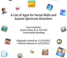 Social Skills and Autism Spectrum Disorders app list - From Consonantly Speaking