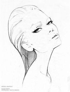 Sketch of lady illustration by Nuno DaCosta
