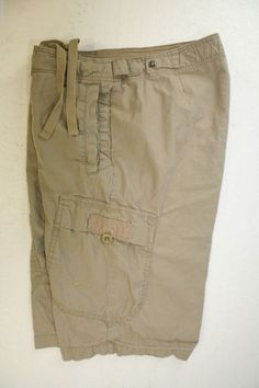 Nike the Athletic Dept Embroidered Check Swoosh Cargo Shorts (Mens 31) Tan 2563 #Nike #Cargo