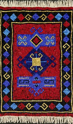 Prayer Rug - Mosaic   by mosaic art source