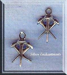 Sterling Silver 3D Nails of Christ Charm, Christian Jewelry Supply - Silver Enchantments