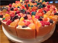 Fruit Jube Cake Slice