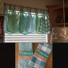 Curtains made from pioneer woman napkins.
