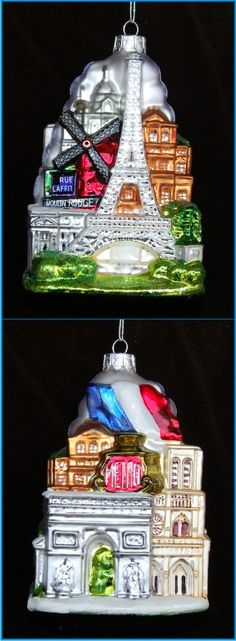Cityscape: Paris Christmas Ornament | Personalized Christmas Ornaments by Russell Rhodes
