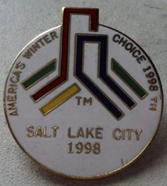 Americas Choice Winter 1998 Salt Lake Olympic Games Olympics Hat Pin Badge  ~ This Item is for sale at LB General Store http://stores.ebay.com/LB-General-Store ~Free Domestic Shipping ~