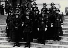 "London, 1919: First women officers in the Metropolitan Police (The Great War put terrible strains on British ""manpower"")"