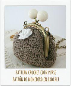 Patrón monedero perla a crochet