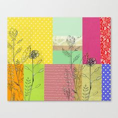 85 x 11 Floral Mixed Patterns Matte Paper by TiffanyJonesDesign, $12.00
