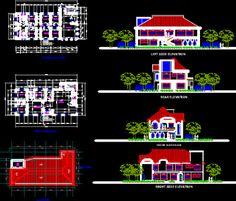 Plan Autocad dune maison dhabitation en DWG   Génie civil et Travaux Publics Engineering