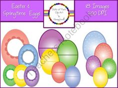Easter and Springtime Eggs from Dots of Fun  on TeachersNotebook.com (18 pages)  - Easter and Springtime Eggs