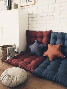 Daybed Mattress, Mattress On Floor, Cushion Headboard, Floor Pouf, Floor Cushions, Cushions On Sofa, Baby Pillows, Linen Pillows, Decorative Pillows