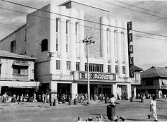 Times Theater, now showing: Bogart, Bergman, Casablanca (Casablanca starring H. Bogart and Ingrid Bergman, movie release date: 23 January 1943). Manila Philippines, last half of 1940s.