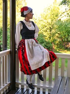 Teuva Folk Costume, Costumes, Finland, Fashion Backpack, Traditional, Clothes, Beauty, Dresses, Jewellery