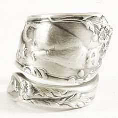 Spoon Ring with Playing Cats and Kittens in Sterling by Spoonier