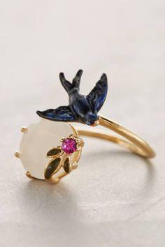 Avifauna Ring by Les Nereides  I love this, minus the bird...
