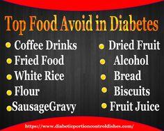 Top food avoid in #diabetes