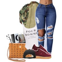 ⛽️ by yngshorty on Polyvore featuring polyvore, fashion, style, NIKE, MCM, Chicnova Fashion, Carhartt, BBrowBar, NARS Cosmetics and clothing