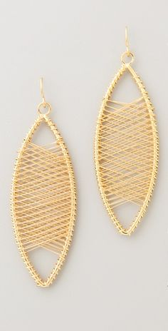 Unique wire woven earings
