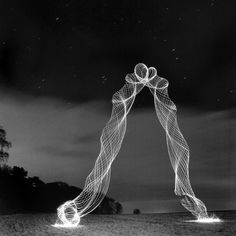 British photographer Martin Kimbell created this superb series of light tornadoes by using a smart combination of LEDs and long exposure techniques. These intriguing airborne light forms were possible by simply flinging hoops Light Painting Photography, Night Photography, Creative Photography, Art Photography, Ethereal Photography, Exposure Photography, Inspiring Photography, Photography Lighting, Digital Photography