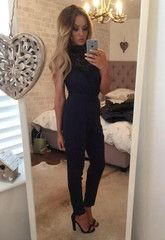 Love this all black jumpsuit, ideal for a party, evening out or work Dress Me Up, Dress For You, Charlotte Crosby, Geordie Shore, Michelle Keegan, Weekend Outfit, Black Jumpsuit, Lipsy, Fashion Boutique