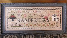 SAMPLERS, 218w x 82h on 40ct. Ale from Picture This Plus - 2017 Nashville release from The Scarlett House