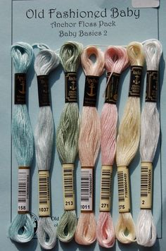Baby Basic Embroidery floss colors