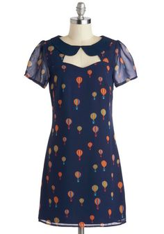 Are hot air balloon prints the new bird print? Put a hot air balloon on it? Best Flight of My Life Dress, #ModCloth