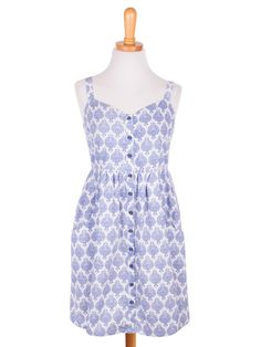 Garden District Dress in Blue