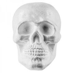 Polystyrene skull, 20 cm x 19 cm, decorative skull, blank for various DIY ideas, Halloween decorations Halloween Food For Party, Halloween Diy, Happy Halloween, Halloween Decorations, Gothic, Skull, Amazon Fr, Products, Weddings