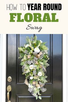 Learn to make professional, traffic-stopping wreaths like this natural and beautiful year round floral teardrop swag and many more for all holidays and seasons in our Wreath Making of the Month Club! Designed by Julie Siomacco of Southern Charm Wreaths Artificial Flower Arrangements, Artificial Flowers, Diy Wreath, Wreath Making, Do It Yourself Crafts, All Holidays, How To Make Wreaths, Farmhouse Decor, Southern Charm