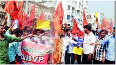 ABVP protests against Afzal Guru supporters