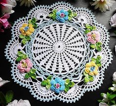 new hand crochet doily 11 3/4 inches across