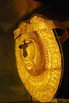 5th Century B.C. Thracian Golden Mask National History Museum, Sofia, Bulgaria