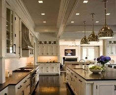 Beautiful and spacious kitchen....South Shore Decorating Blog: 5.24.14