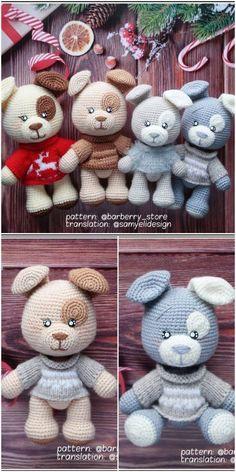 Amigurumi Crochet Patched Tiny Dog (Free Pattern) - Amigurumilove.pinto.live