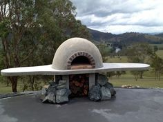 Our new wood fired pizza oven nearing completion. www.barringtonriverorganicfarm.com.au